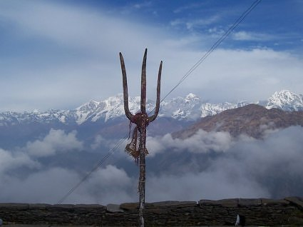 View from Tungnath temple courtyard, Chopta, Uttarakhand