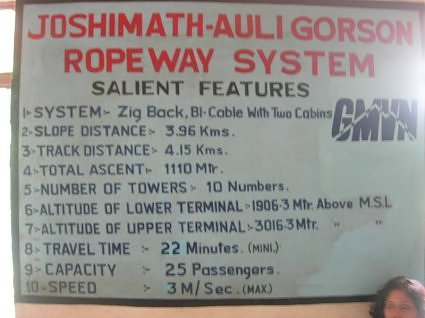 Information - Ropeway from Joshimath to Auli