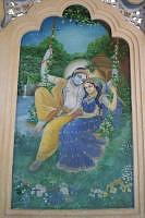 Radha Krishna Wall painting at Iskcon temple, Vrindavan