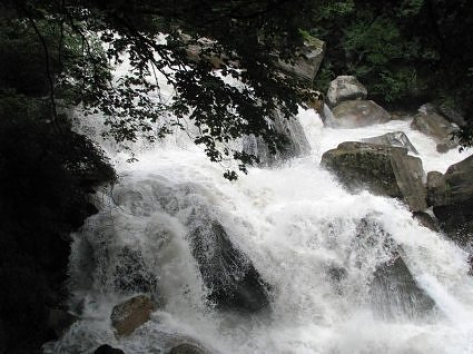 Laxman Ganga rushing to meet Alaknanda at Govindghat