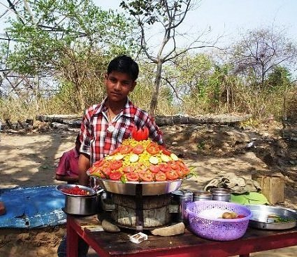 Food and drink on the trek path to Chandi Devi