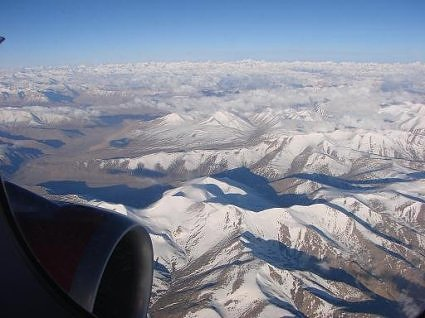 Air view of Ladakh