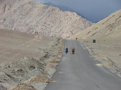 Motorcyclist tourists in Ladakh