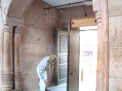 door to the temple premises of Sri Banke Bihari ji Maharaj