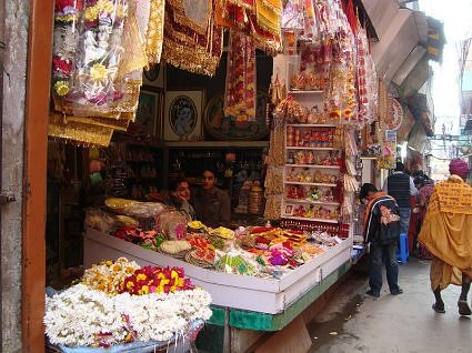 Shops in Vrindavan