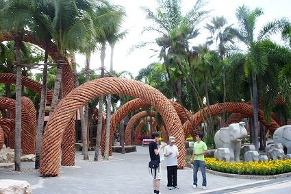 Landscaping at Nongnooch Tropical Garden, Pattaya, Thailand