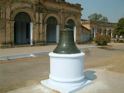Bell in the courtyard, La Martiniere College Lucknow