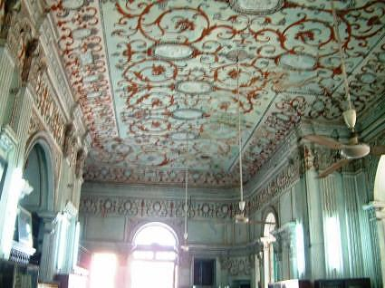Painted ceiling in the library, La Martiniere College Lucknow