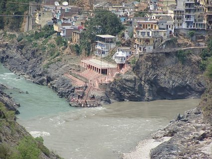 Devprayag: Confluence of Alaknanda and Bhagirathi