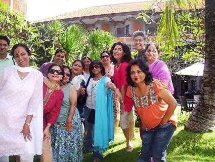 Umesh Chandra, meenakshi Bahadur, Shailly Shukla,, Pratima kapoor, Suparna Chatterjee, Rehana Ali Ameer, Dr Urvashi sahni, Sangita Gupta, Usha Manocha and saroj Singh enjoying in Bali