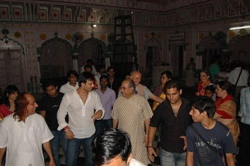 Vivek Oberoi in Vrindavan, at Sri Radha Raman temple
