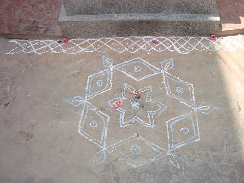 Rangoli pattern from Bangalore, Shanthinagar