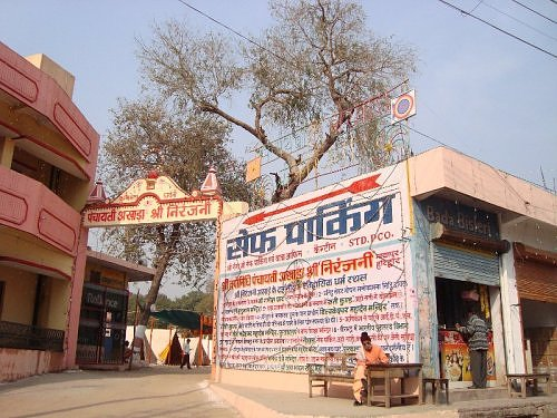 Safe Parking at Niranjani Akhara Road, converted into a camp/chhavani for sadhus attending Maha Kumbh 2010