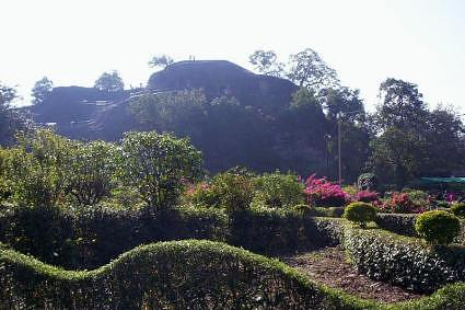 Pandav caves and garden at pachmarhi, Madhya Pradesh