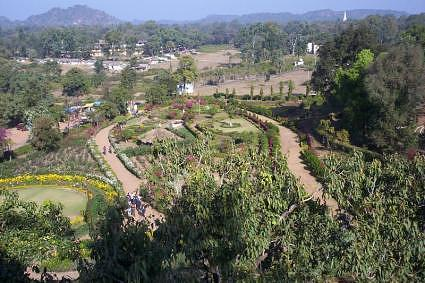 Garden around pandav caves in pachmarhi hill station, Madhya Pradesh