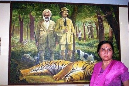 Painting at Jim Corbett's winter home in Kaldhungi