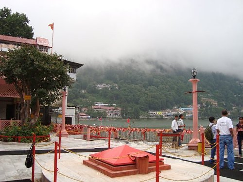 Naini jheel as seen from Naina devi temple