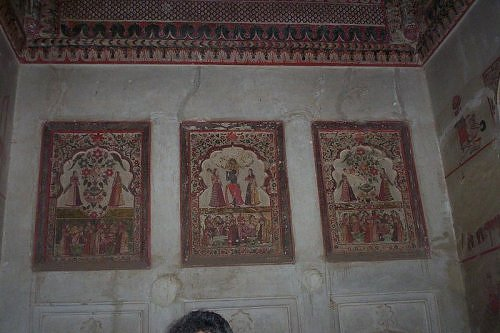 wall painting, Orchha, Madhya Pradesh tourist spot, India