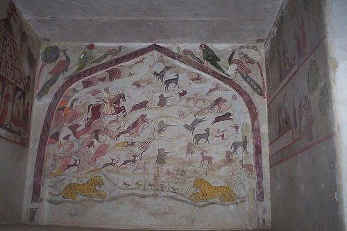 wall painting, Orchha, Madhya Pradesh tourism, India