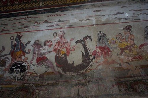 wall painting, Orchha, madhya Pradesh, India