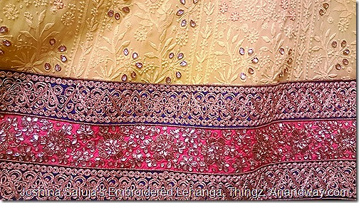Chikan and Zardozi embroidery, Joshina Saluja Thingz Lucknow, India