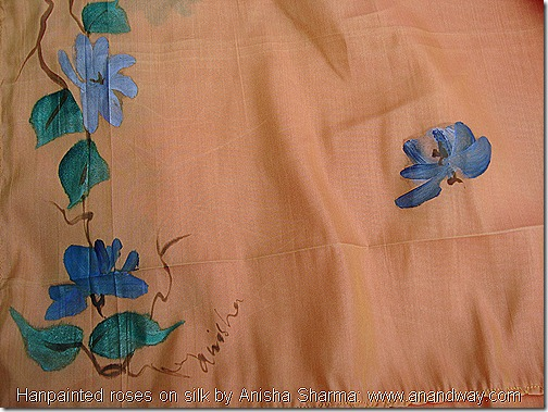 handpainted roses on silk by anisha sharma (1)
