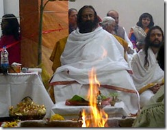 Sri Sri Ravi Shankar doing Homa