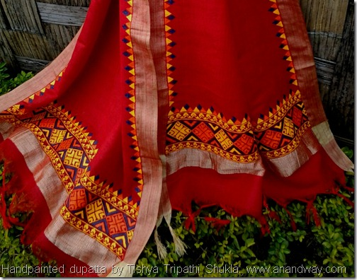 Handpainted fashion accessories by Tishya Shukla, Indain art  (8)