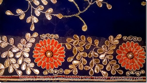 Gota Patti embroidery Sari, Joshina Saluja Thingz Lucknow, India