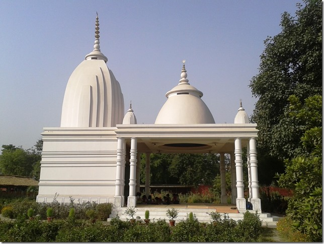 temple at vrindavan farm,organic india, lucknow, papaji temple