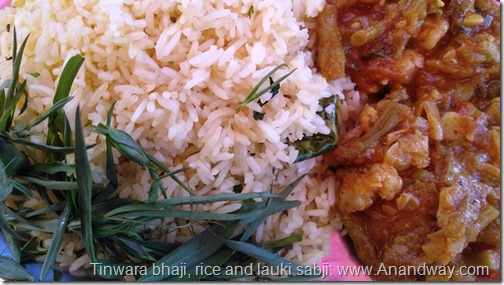 chattigarh breakfast rice gourd and tinwara bhaji greens