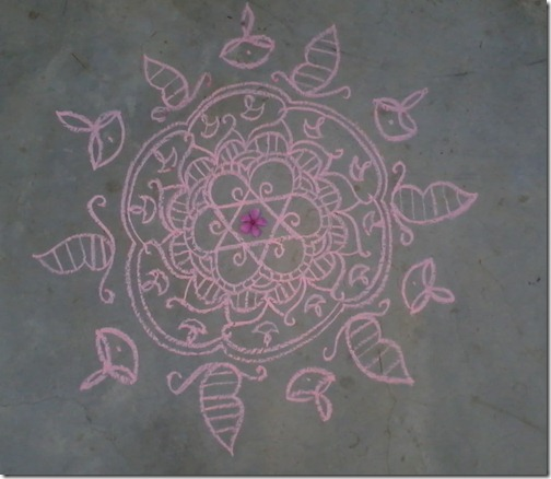 learn Chalk Rangoli design
