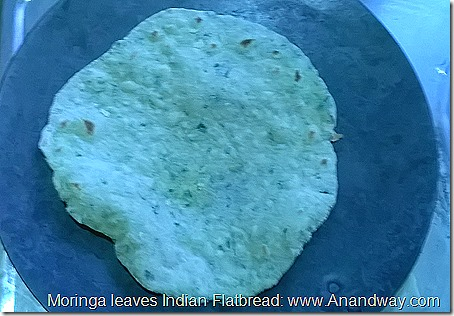 Drumsticks leaves Indian bread roti recipe