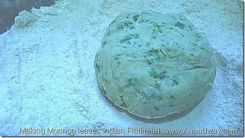 Moringa leaves Indian bread recipe
