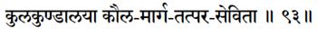 Sri Lalitasahastranam verse 93